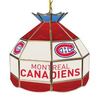 NHL 16 Inch Handmade Tiffany Style Lamp - Montreal Canadiens