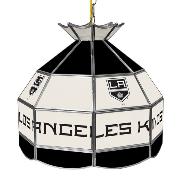 NHL 16 Inch Handmade Tiffany Style Lamp - Los Angeles Kings