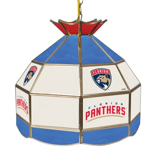 NHL 16 Inch Handmade Tiffany Style Lamp - Florida Panthers