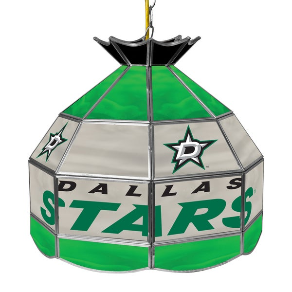 NHL 16 Inch Handmade Tiffany Style Lamp - Dallas Stars