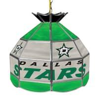 NHL 16 Inch Handmade Tiffany Style Lamp - Dallas Stars