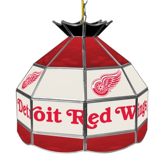 NHL 16 Inch Handmade Tiffany Style Lamp - Detroit Redwings