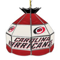 NHL 16 Inch Handmade Tiffany Style Lamp - Carolina Hurricane
