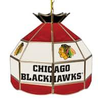 NHL 16 Inch Handmade Tiffany Style Lamp - Chicago Blackhawks