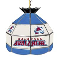 NHL 16 Inch Handmade Tiffany Style Lamp - Colorado Avalanche