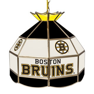 NHL 16 Inch Handmade Tiffany Style Lamp -Boston Bruins