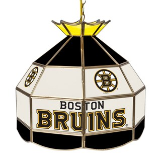 NHL 16 Inch Handmade Tiffany Style Lamp -Boston Bruins