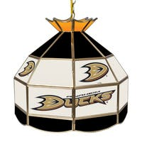 NHL 16 Inch Handmade Tiffany Style Lamp - Anaheim Ducks