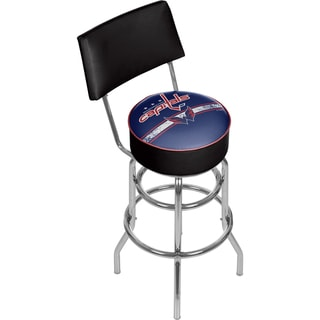 NHL Swivel Bar Stool with Back - Washington Capitals