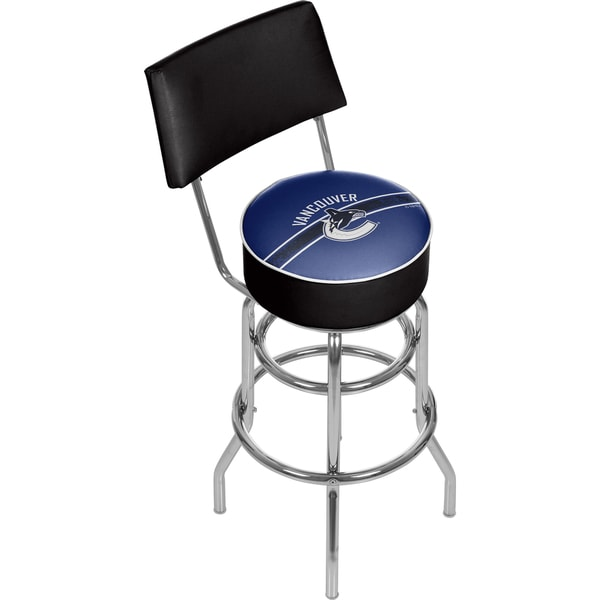 NHL Swivel Bar Stool with Back - Vancouver Canucks