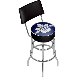 NHL Swivel Bar Stool with Back - Toronto Maple Leafs