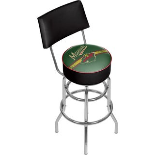 NHL Swivel Bar Stool with Back - Minnesota Wild
