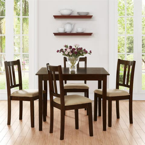 Dorel Living Redmond Espresso 5-piece Traditional Height Dining Set