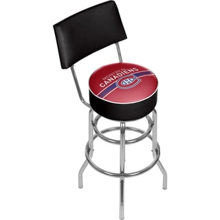 NHL Swivel Bar Stool with Back - Montreal Canadiens