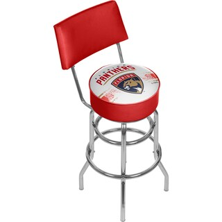 NHL Swivel Bar Stool with Back - Florida Panthers