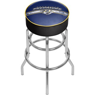 NHL Chrome Bar Stool with Swivel - Nashville Predators