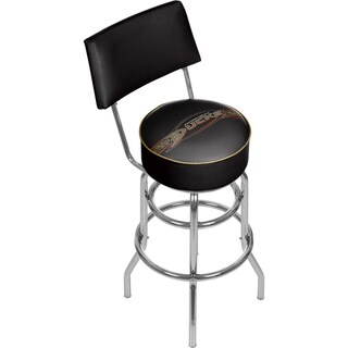 NHL Swivel Bar Stool with Back - Anaheim Ducks