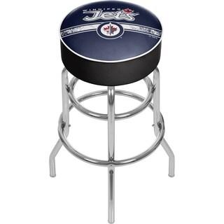 NHL Chrome Bar Stool with Swivel - Winnipeg Jets
