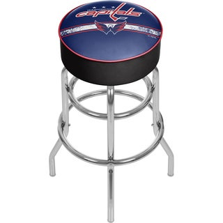 NHL Chrome Bar Stool with Swivel - Washington Capitals