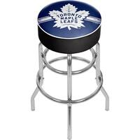 NHL Chrome Bar Stool with Swivel - Toronto Maple Leafs