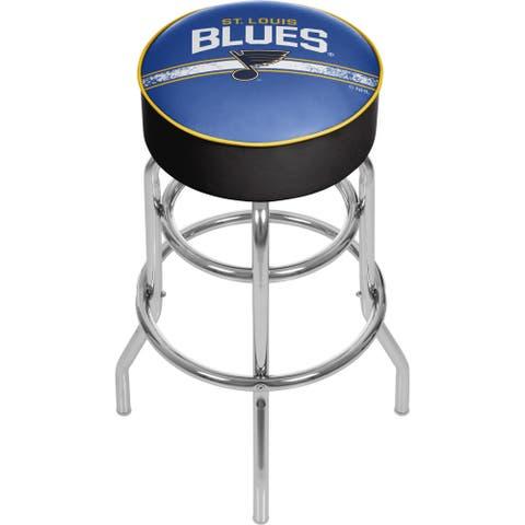 NHL Chrome Bar Stool with Swivel - St. Louis Blues
