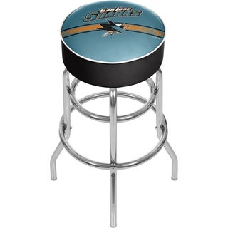 NHL Chrome Bar Stool with Swivel - San Jose Sharks