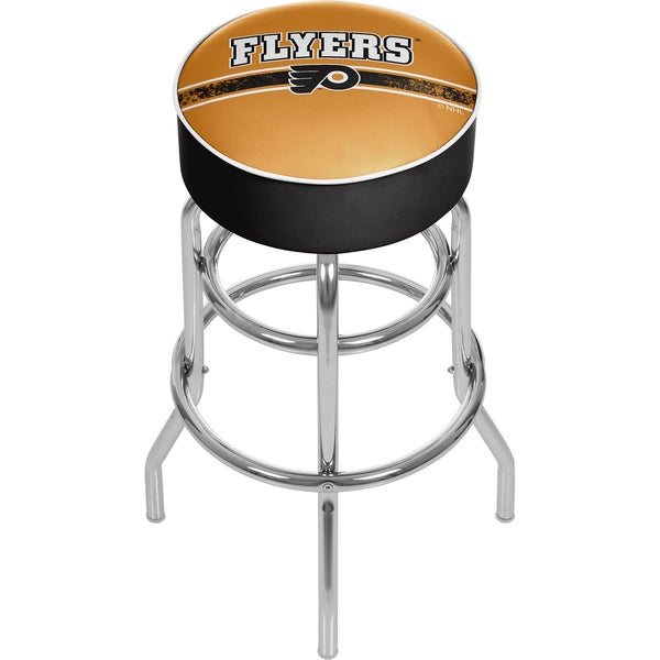 NHL Chrome Bar Stool with Swivel - Philadelphia Flyers