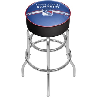 NHL Chrome Bar Stool with Swivel - New York Rangers