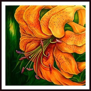 Debra Bucci 'Tiger Lily' Framed Art