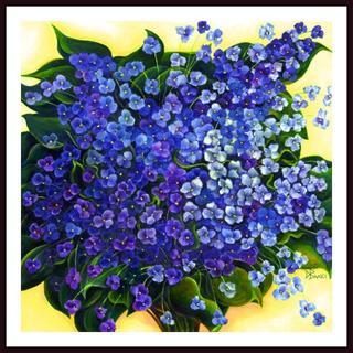 Debra Bucci 'Violet Sanctuary' Framed Art