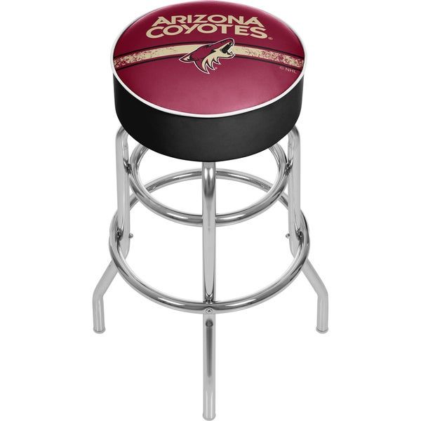 NHL Chrome Bar Stool with Swivel - Arizona Coyotes