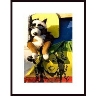 John Nakata 'Surf Dog and Bob' Framed Art