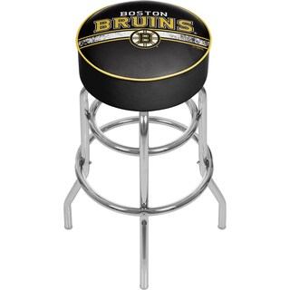 NHL Chrome Bar Stool with Swivel - Boston Bruins