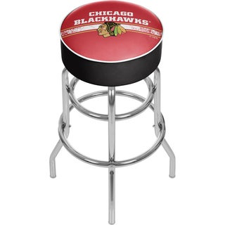 NHL Chrome Bar Stool with Swivel - Chicago Blackhawks