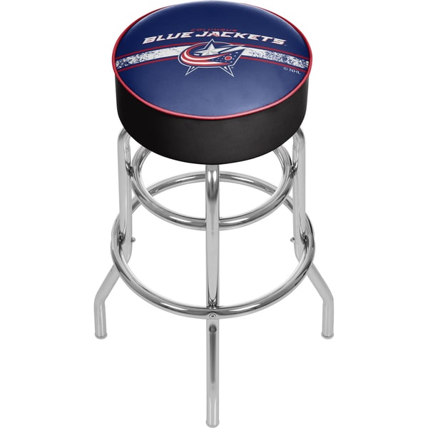 NHL Chrome Bar Stool with Swivel - Columbus Blue Jackets