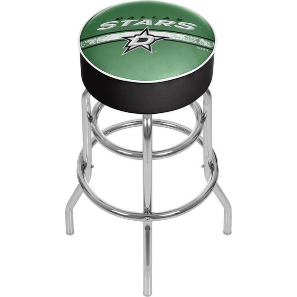 NHL Chrome Bar Stool with Swivel - Dallas Stars