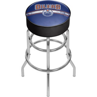 NHL Chrome Bar Stool with Swivel - Edmonton Oilers