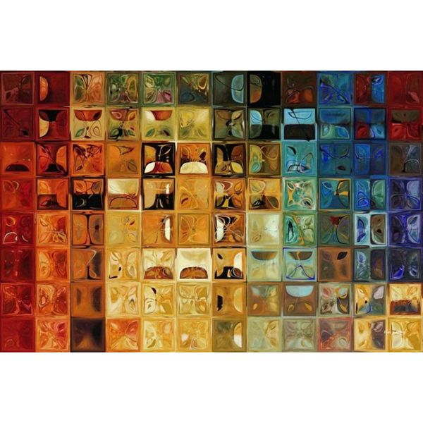 Mark Lawrence 'Tile Art #22, 2008  Modern Mosaic Tile Art Painting' Gallery  Wrapped Canvas