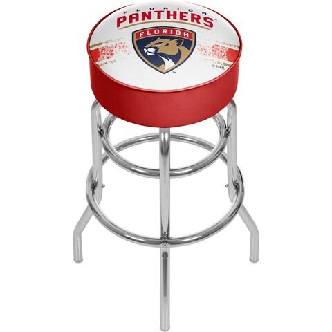 NHL Chrome Bar Stool with Swivel - Florida Panthers