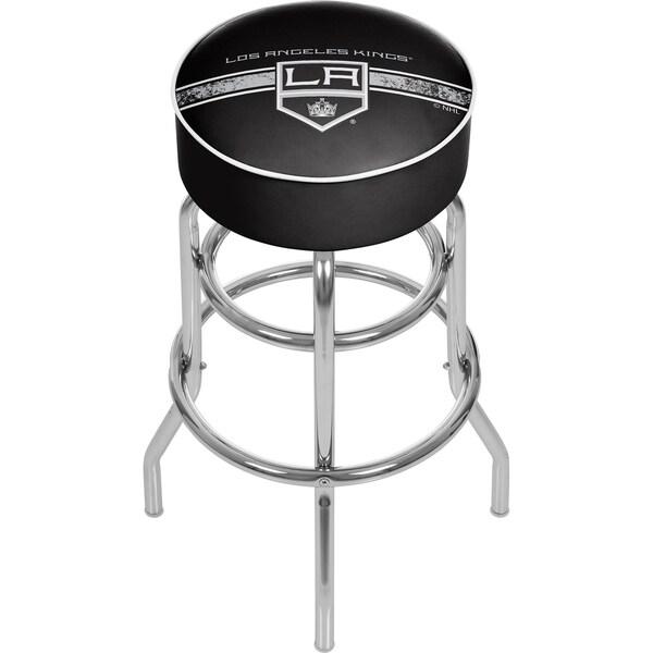 NHL Chrome Bar Stool with Swivel - Los Angeles Kings