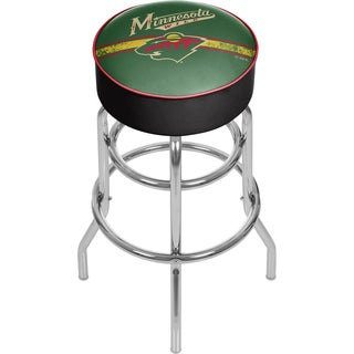 NHL Chrome Bar Stool with Swivel - Minnesota Wild