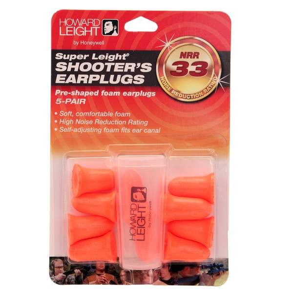 Howard Leight Super Leight Pre-Shaped Foam Ear Plugs, 5 Pair