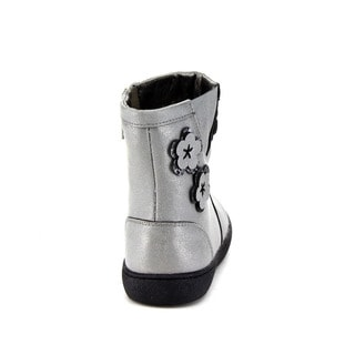Beston GA63 Children Girl's Comfort Side Zipper Flower High Top Mid Calf Booties