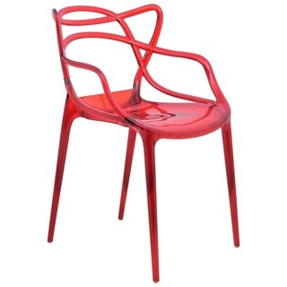 LeisureMod Milan Red Wire Chair