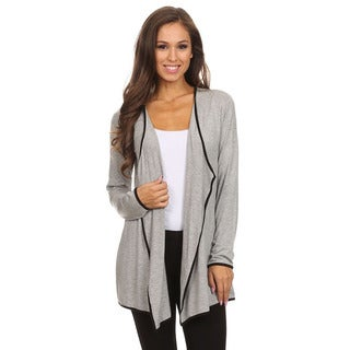 MOA Collection Women's Open Front Cardigan