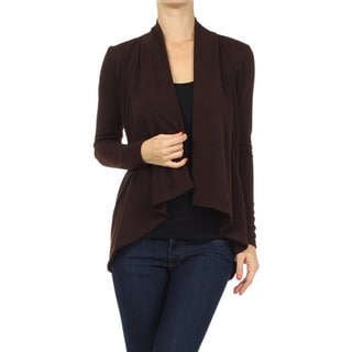 MOA Collection Women's Flyaway Cardigan with Open Front