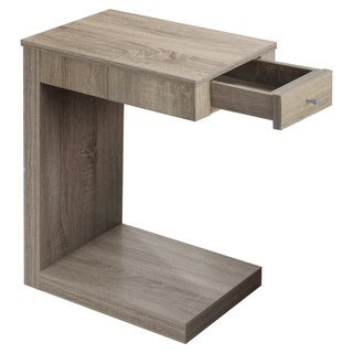 Natural Reclaimed Look Chrome Metal Accent Table