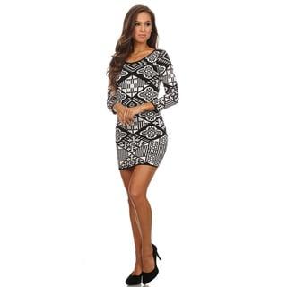 MOA Collection Women's Bodycon Fit Mini Dress