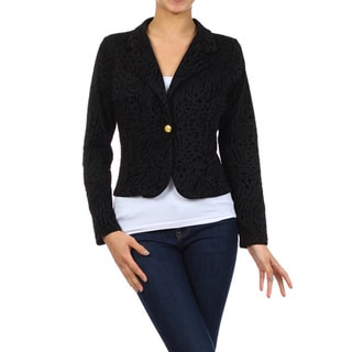 MOA Collection Women's Reg Textured Blazer