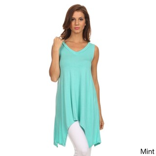 MOA Collection Women's Solid Sleeveless High-low Hem Top (More options available)
